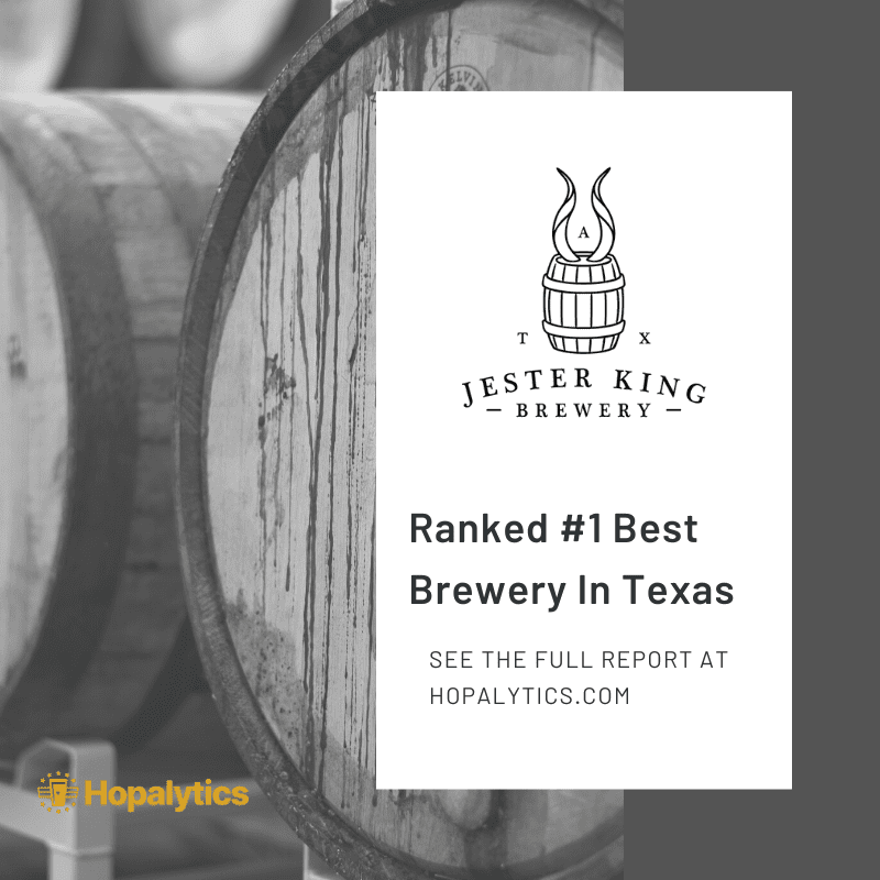 Jester King ranked best brewery in Texas