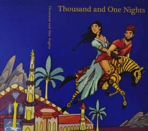 Student illustration for book cover of Thousand and One Nights