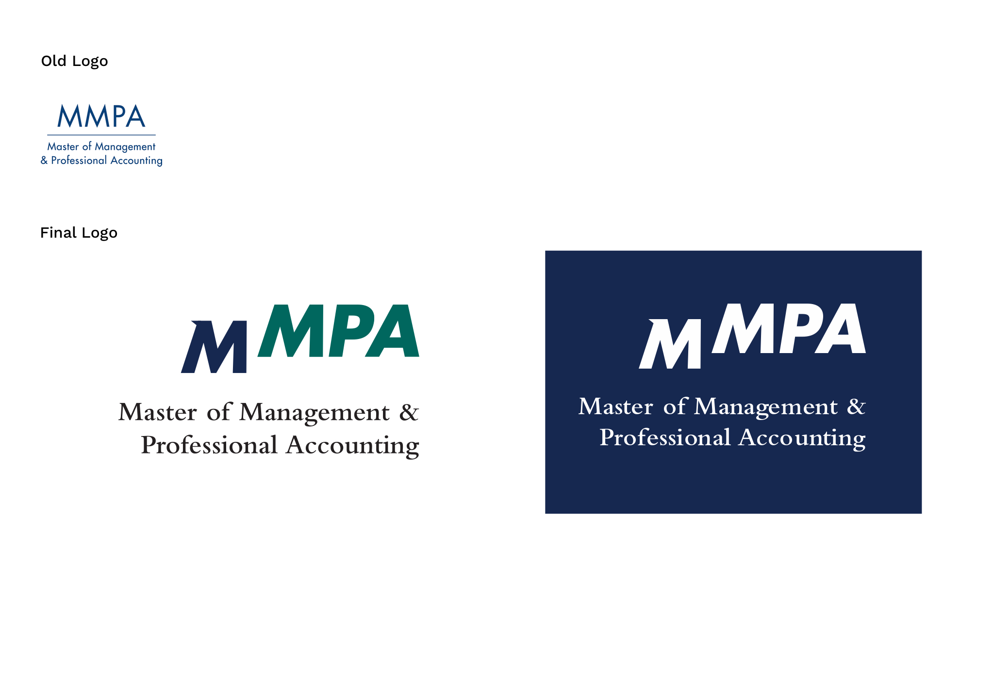 Photo of MMPA previous and final logo